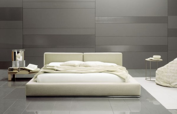 A white modern designer bed