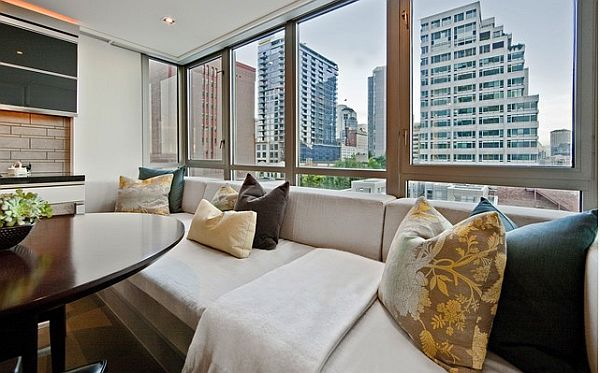 window couch with city view