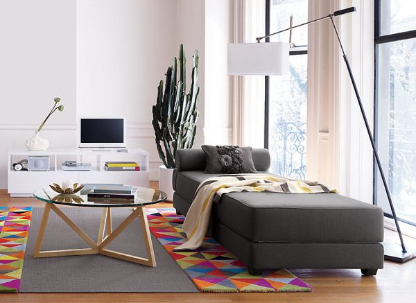 A contemporary gray daybed