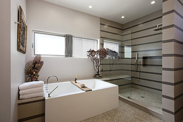 20 contemporary bathroom tubs for a soothing experience - Salle de bain simple et moderne ...