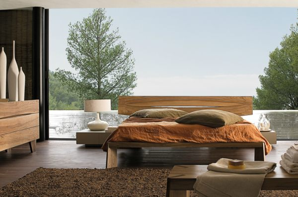 A contemporary wooden bed 20 Chic Modern Bed Designs