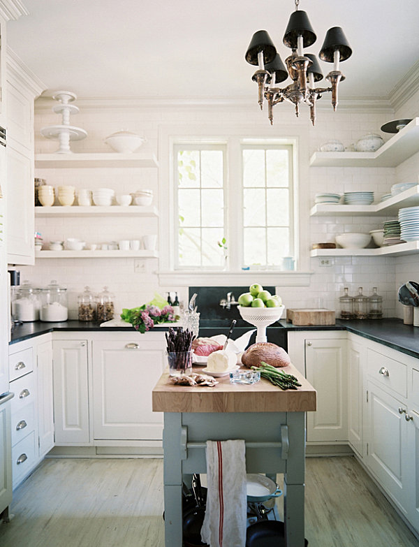 19 design ideas for small kitchens for Kitchen island ideas small space
