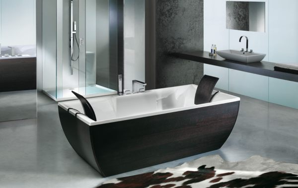 20 contemporary bathroom tubs for a soothing experience. Black Bedroom Furniture Sets. Home Design Ideas