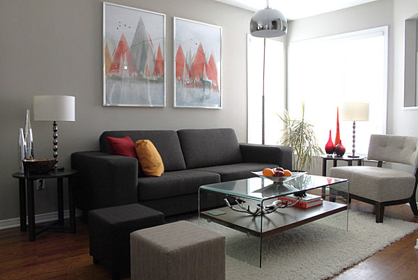 How to decorate a living room - How to decorate a gray living room ...