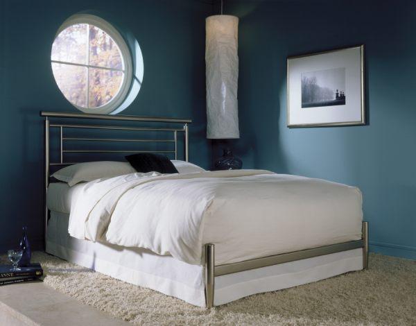 A modern metal bed