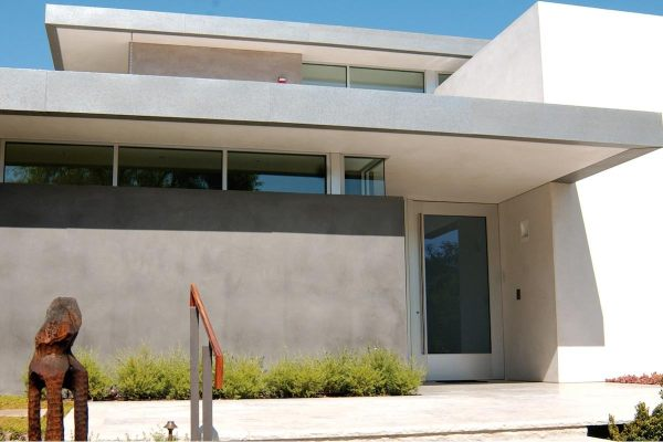 Modern Glass Front Door House Stainless Steel Double Doors Stained