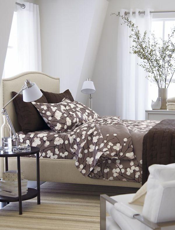 A modern upholsterd linen bed