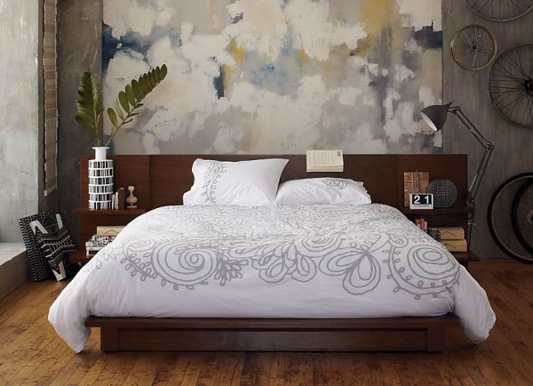 A modern wooden bed 20 Chic Modern Bed Designs