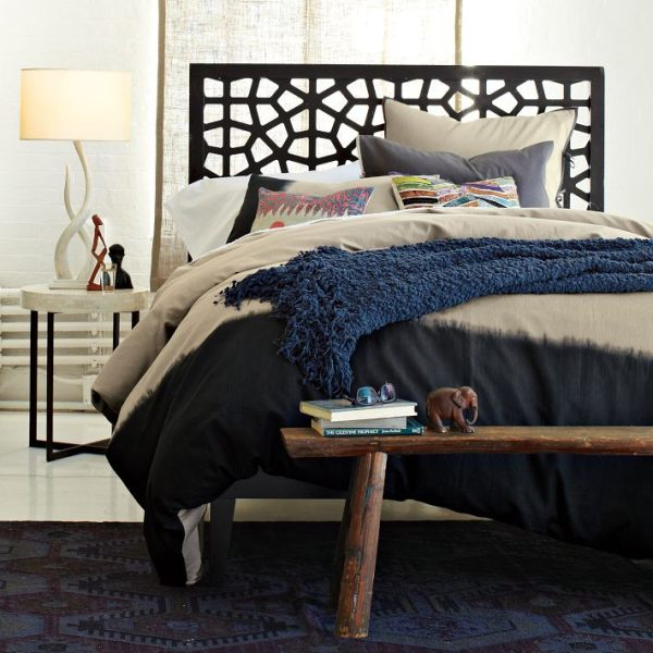 A modern wooden lacy headboard 20 Modern Bedroom Headboards