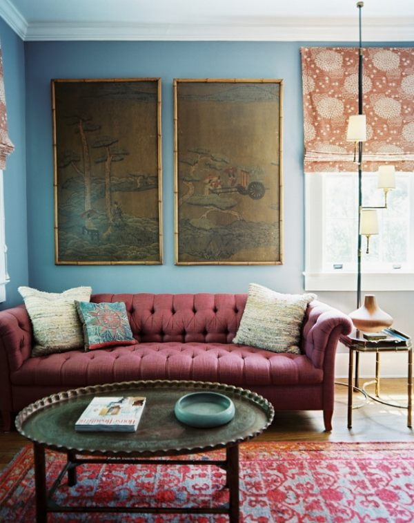 A Powder Blue Living Room