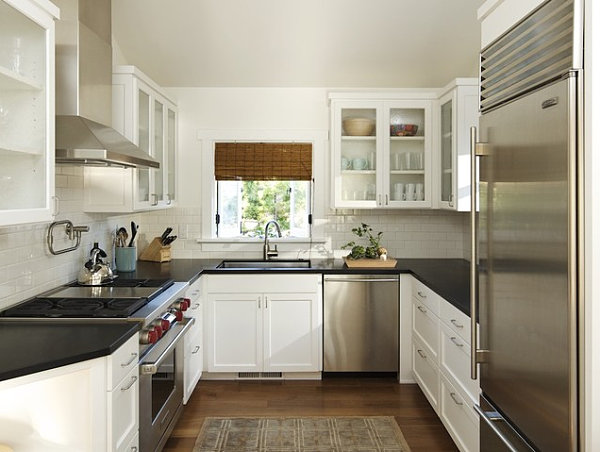 a small kitchen with a spacious feel - Narrow Kitchen Design Ideas