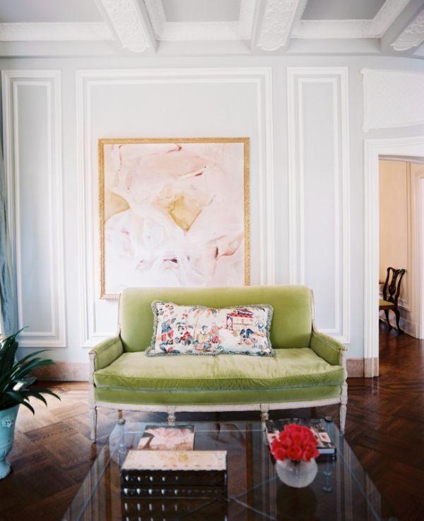 A soft-hued living room