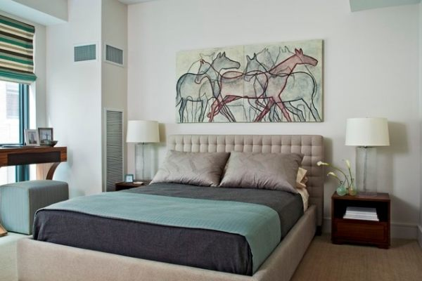 A soothing modern bedroom