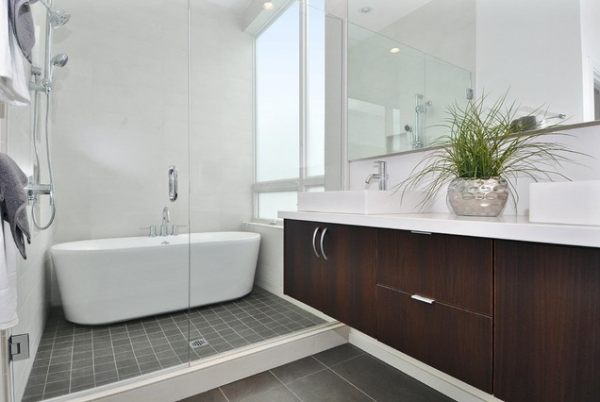 A tub in the shower!