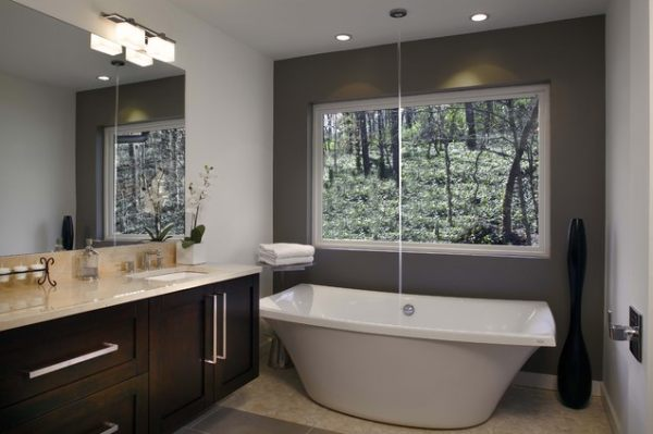 Freestanding Tub And Shower Combo. View in gallery A unique free standing tub  Unique Bathroom Tub Ideas