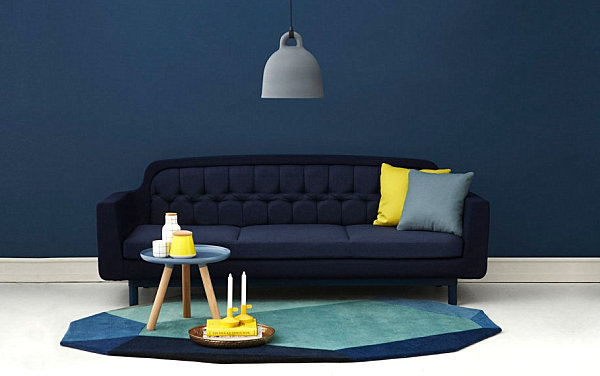 A very blue living room How to Decorate a Living Room