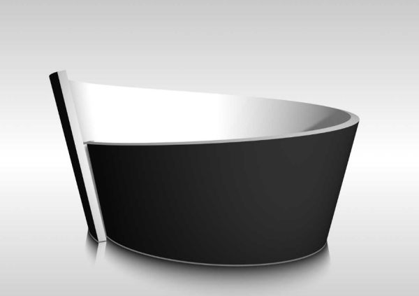An artistic round contemporary tub