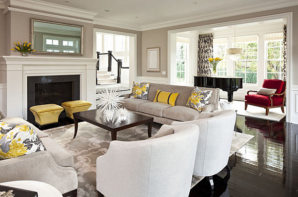 How to decorate a living room for Living room yellow accents