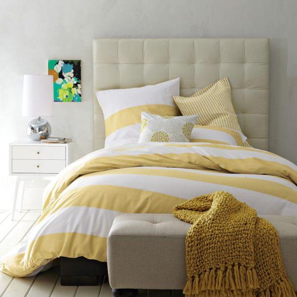 An elegant, organic modern bedroom