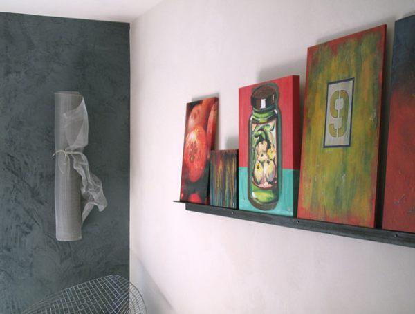Art-on-a-display-shelf