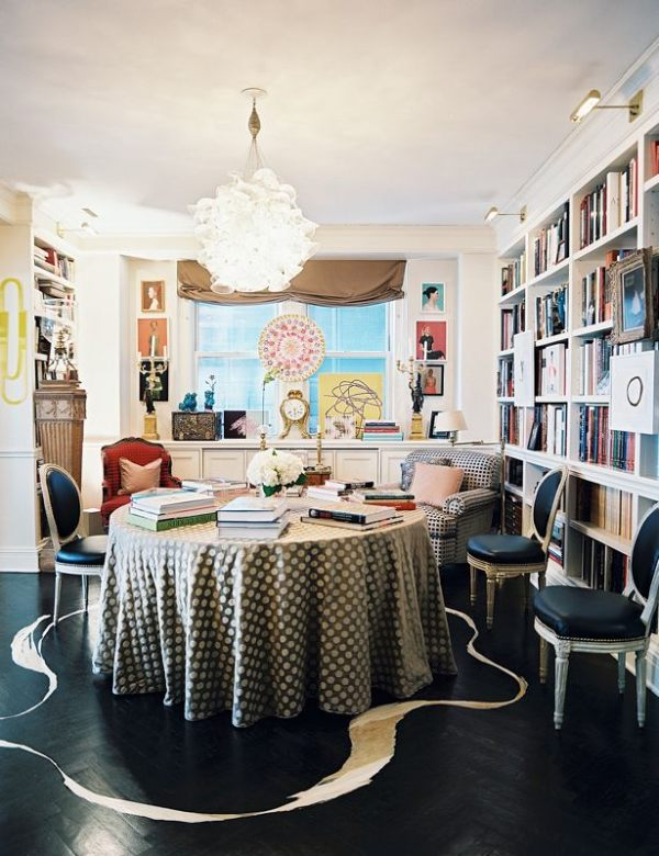 Displaying art when wall space is scarce - Vestir mesa camilla ...