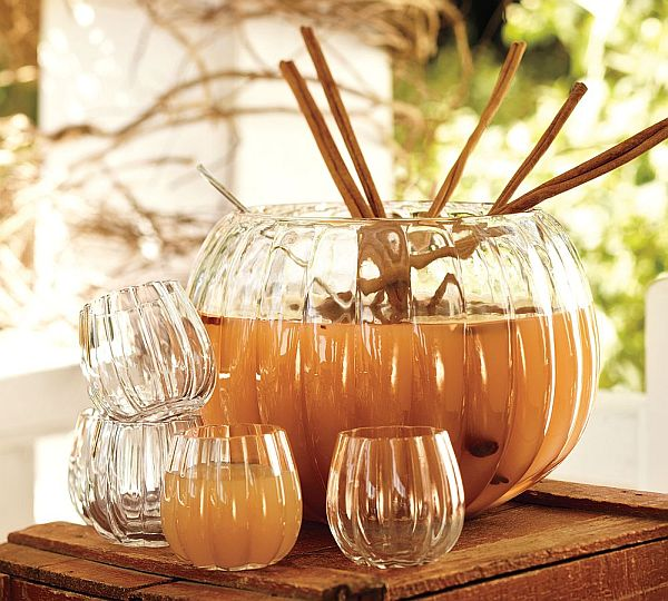 Beautiful pumpkin punch bowl