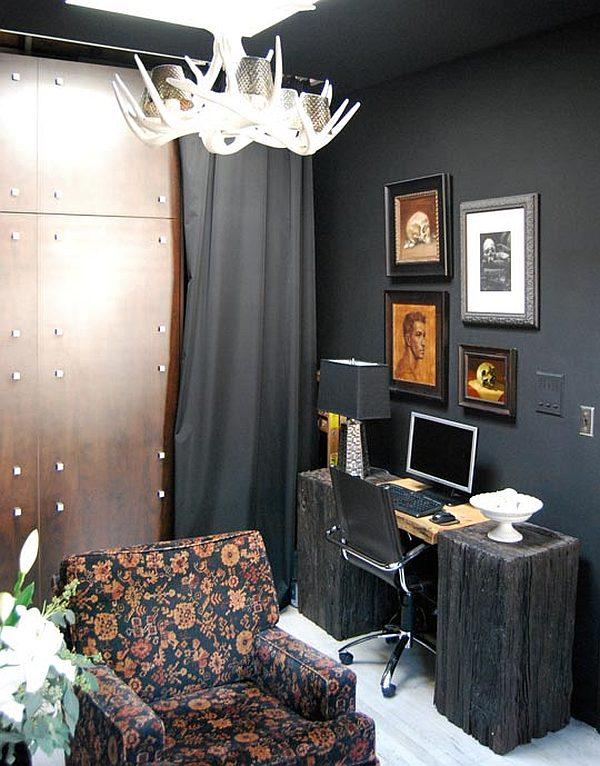 Inside Bill Indursky S Black Studio Apartment