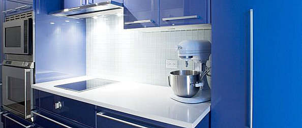 Blue moder kitchen cabinets 12 Creative Kitchen Cabinet Ideas
