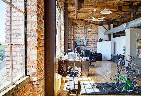 Corktown Penthouse – exposed brick walls