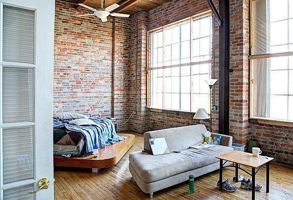 Corktown Penthouse – exposed walls