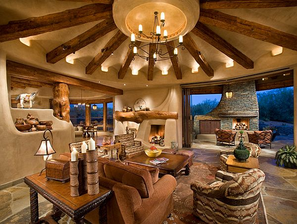 View In Gallery Cottage Style Round Living Room ... Part 16