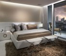 Cove lighting in a contemporary bedroom