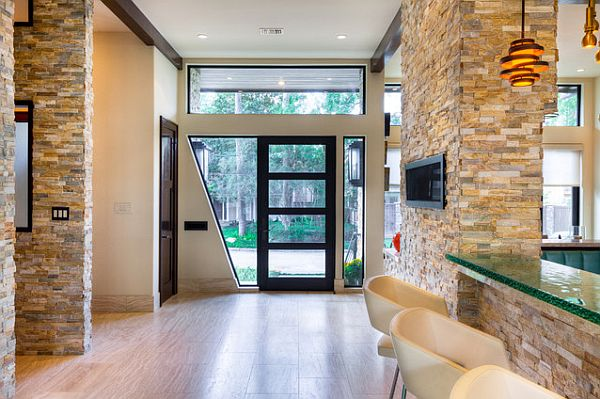 8 beautiful textures to decorate your home - Interactive home interior decor with various modern stone fireplace ...