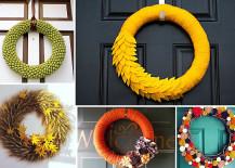 Funky DIY Wreaths for the Fall Season