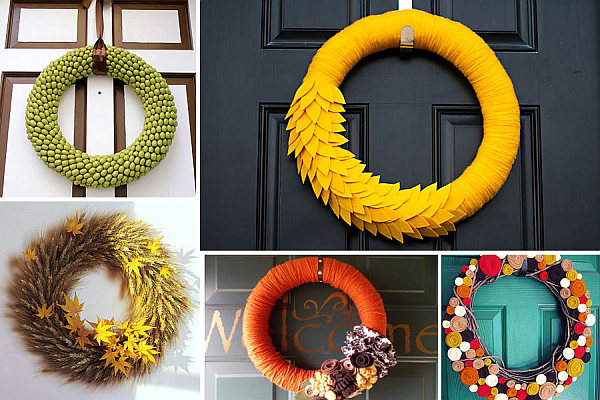 Funky diy wreaths for the fall season for Funky decorations for the home