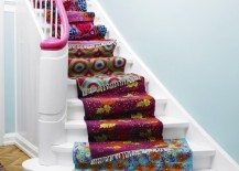 DIY fabric stairs