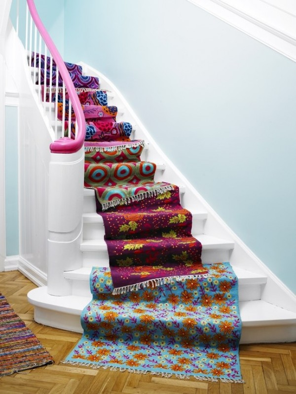 Captivating View In Gallery DIY Fabric Stairs