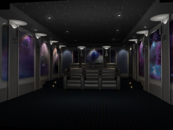 modern unique theme home theater designs | 35 Modern Media Room Designs That Will Blow You Away