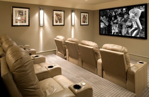view in gallery eclectic styled home theater room - Home Theater Room Design
