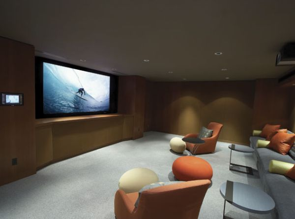 Elegant and Minimalistic Media Room Design for Modern Home