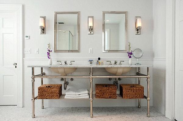 Elegant bathroom sconces