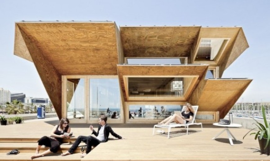Endesa Pavilion showcases sustainability with stunning simplicity and solar energy!