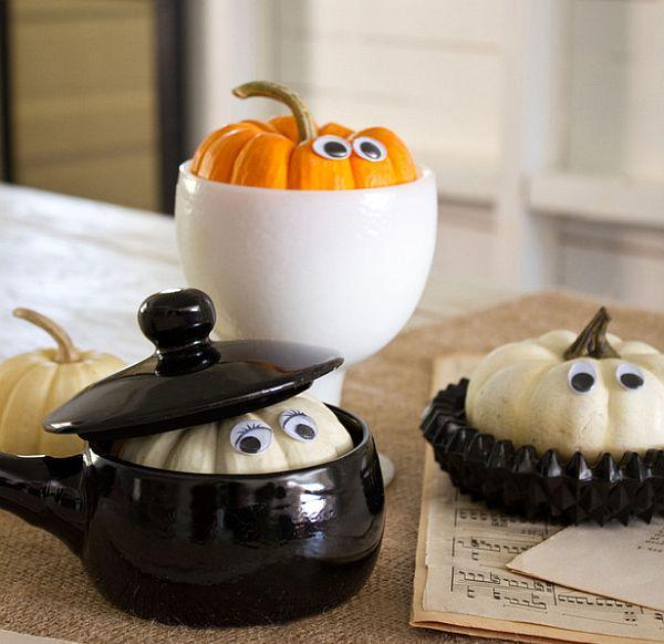 Funny peek-a-boo pumpkins