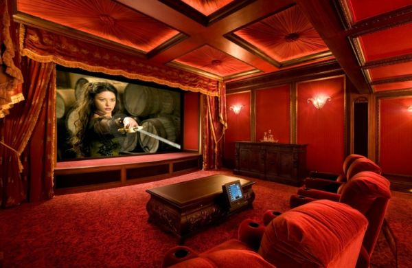in gallery grand and vivacious home theater - Home Theater Stage Design
