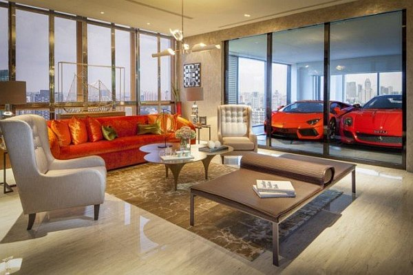 Indoor car garage