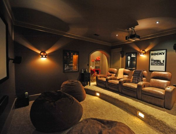 35 Modern Media Room Designs That Will Blow You Away on decorating with oversized bean bag chairs