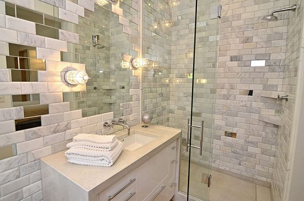 Photo Stone Tile Bathrooms White Marble Flooring In The Bathroom Marble Tiles In The Bathroom