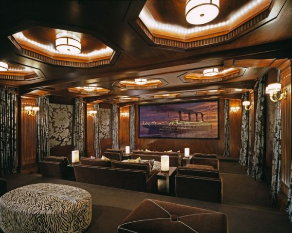 Home Theater With Stylish Sophistication Modern Theater Room With