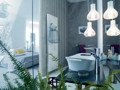 Modern pendant lighting for the bathroom