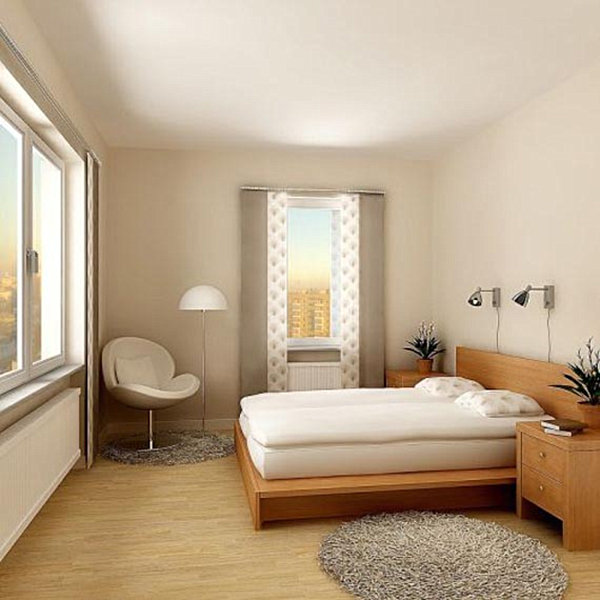 23 modern bedroom designs for Small apartment furniture ideas